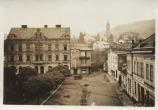 Pohled na část Dolního náměstí z hotelu Březáček dne 11. 5. 1939