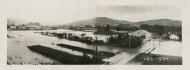 Ohrada při povodni v červenci 1919 (širokoúhlá pohlednice)
