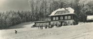 Horská chata na Vsackém Cábě (širokoúhlá pohlednice)