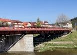 Vlak T444 z Jasenic do Vsetína na mostě přes Bečvu
