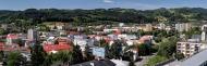 Panoramatický pohled ze zámecké věže (širokoúhlá pohlednice)